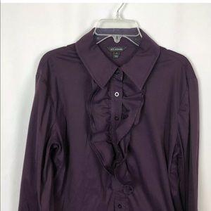 St. John Ruffle Blouse Shirt Tux
